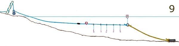 рыбная сетка волокуша ловля на моря